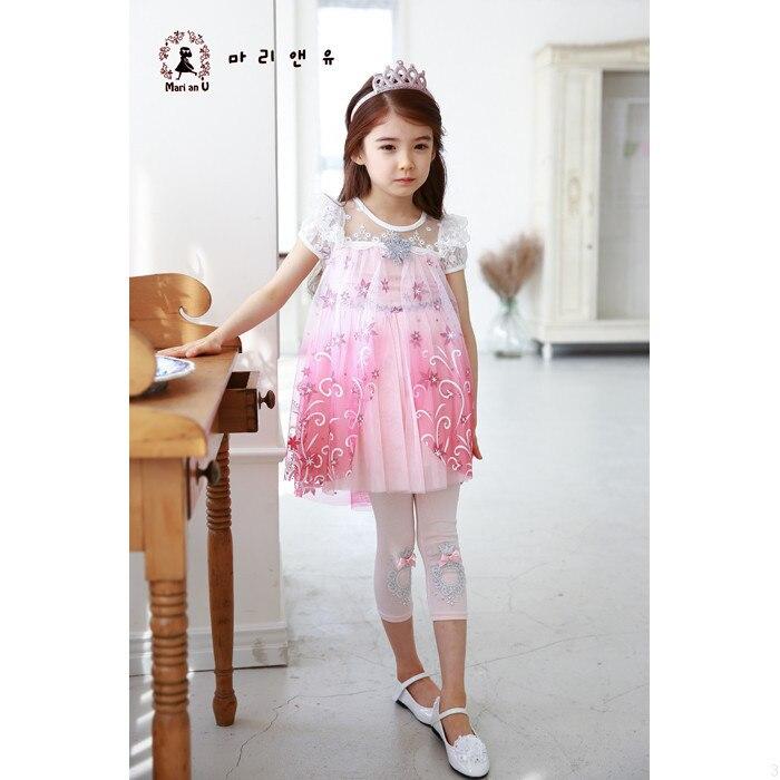 Vajzat Fustan 2019 Dantella Verore Temperatura Elsa Princesha Veshjet - Veshje për fëmijë - Foto 2