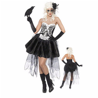 VASHEJIANG sexy Vampire Costume Halloween Costumes pour Femmes Fantôme mariée Costumes pour Halloween Party Robe XY1307