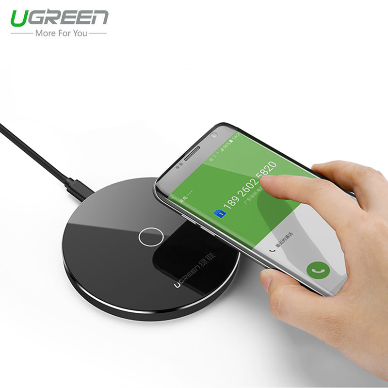 ugreen 5v 2a quick charge qi wireless charger for samsung. Black Bedroom Furniture Sets. Home Design Ideas