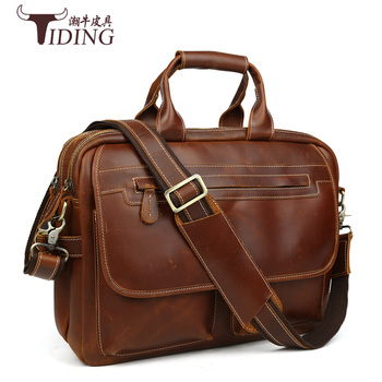 men briefcase cow leather laptop vintage men briefcases handbags brands genuine leather man handbags shoulder crossbody file bag