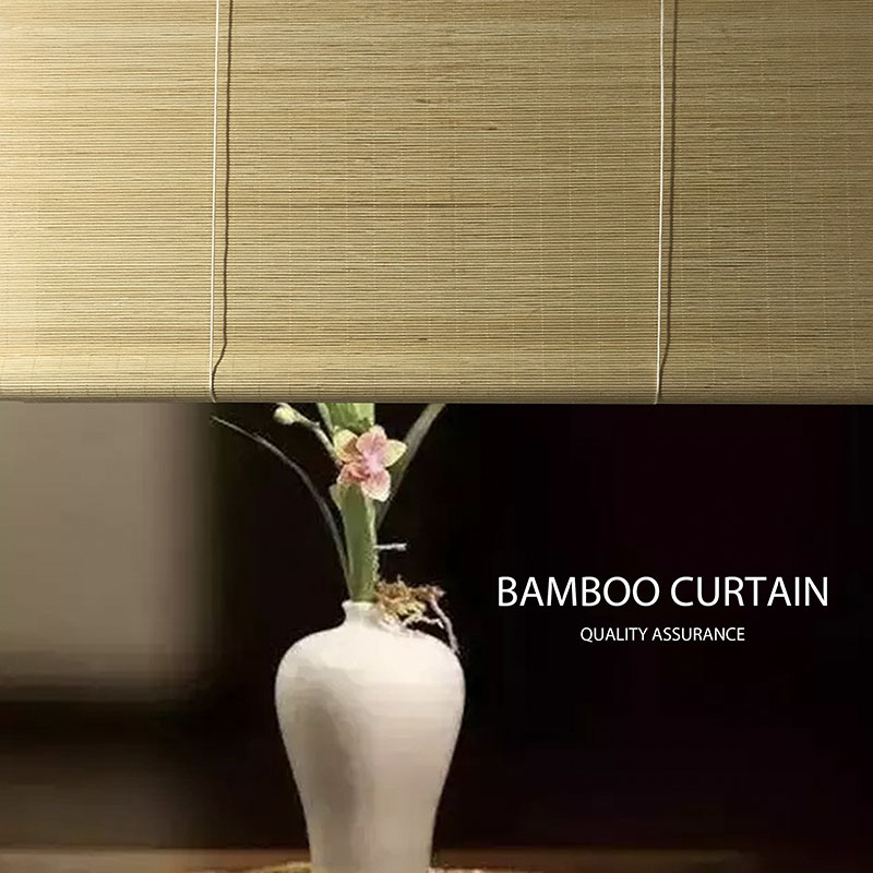 Window Curtains Bamboo Curtain Customization Home Shade Blackout Partition Natural Wool Shutters Environmental Protection