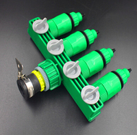 4 way Quick water hose connector for irrigation 4/7'' garden hose fitting with universal tap adaptor