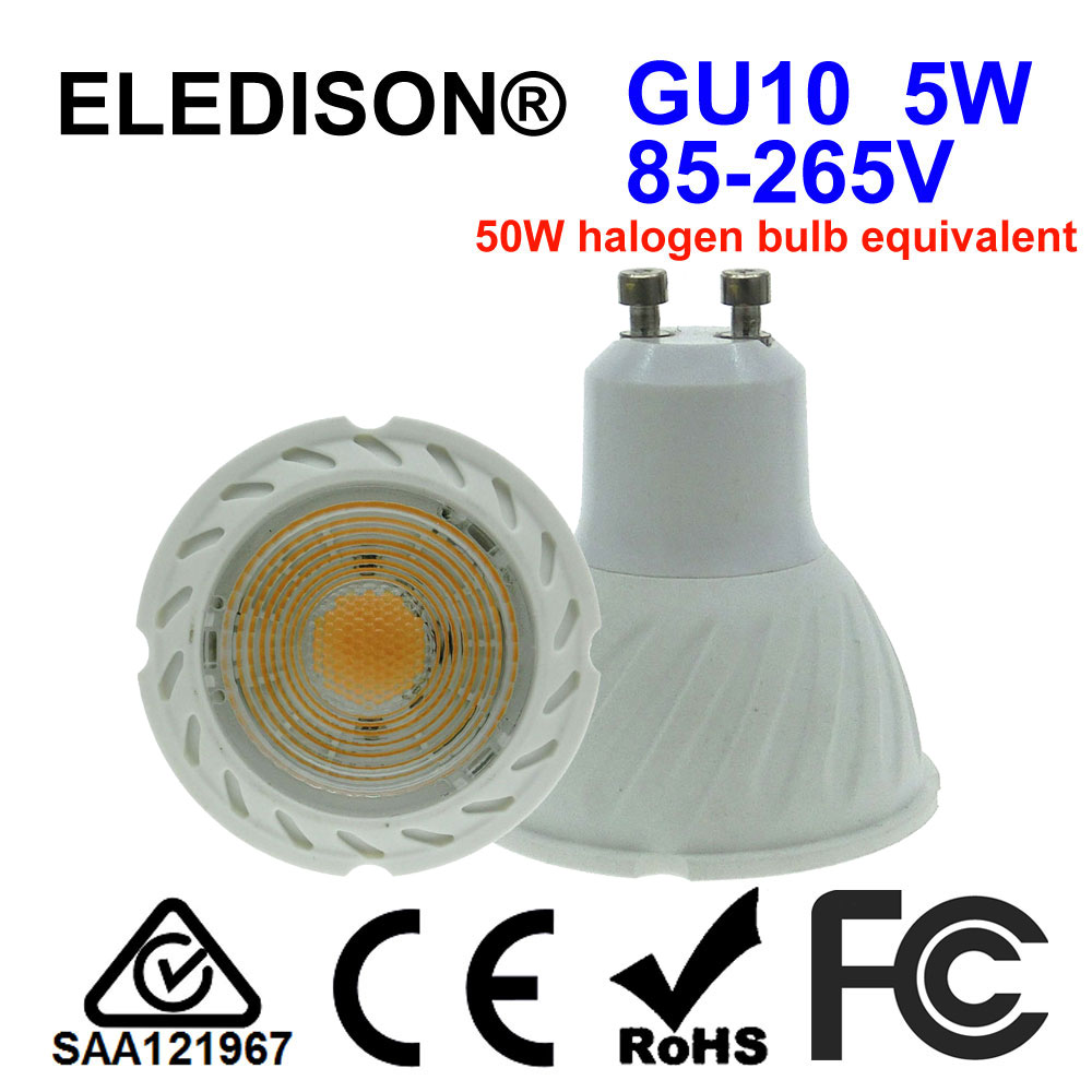 LED GU10 Light Bulb 5W PAR16 50W Halogen Bulb Replacement 85-265V AC 2700K 4000K Hotel Restaurant Household Recessed Track Light