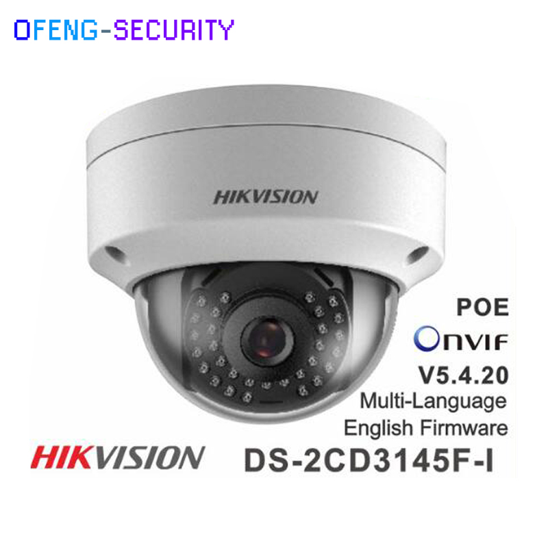 Original Hikvision DS-2CD3145F-I replace DS-2CD3145F-IS DS-2CD3135F-I 4MP Dome Camera POE SD IP Camera CCTV camera 10pcs lot multi language hik ip camera ds 2cd2345 i replace ds 2cd2335 i 4mp poe 1080p ir night vision cctv security ip camera