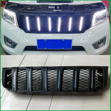 FOR NISSAN NAVARA NP300 D23 2015-2018 MODIFIED FRONT RACING GRILLE GRILLS ABS BUMPER MESH MASK TRIMS COVER GRILL PICKUP CAR все цены