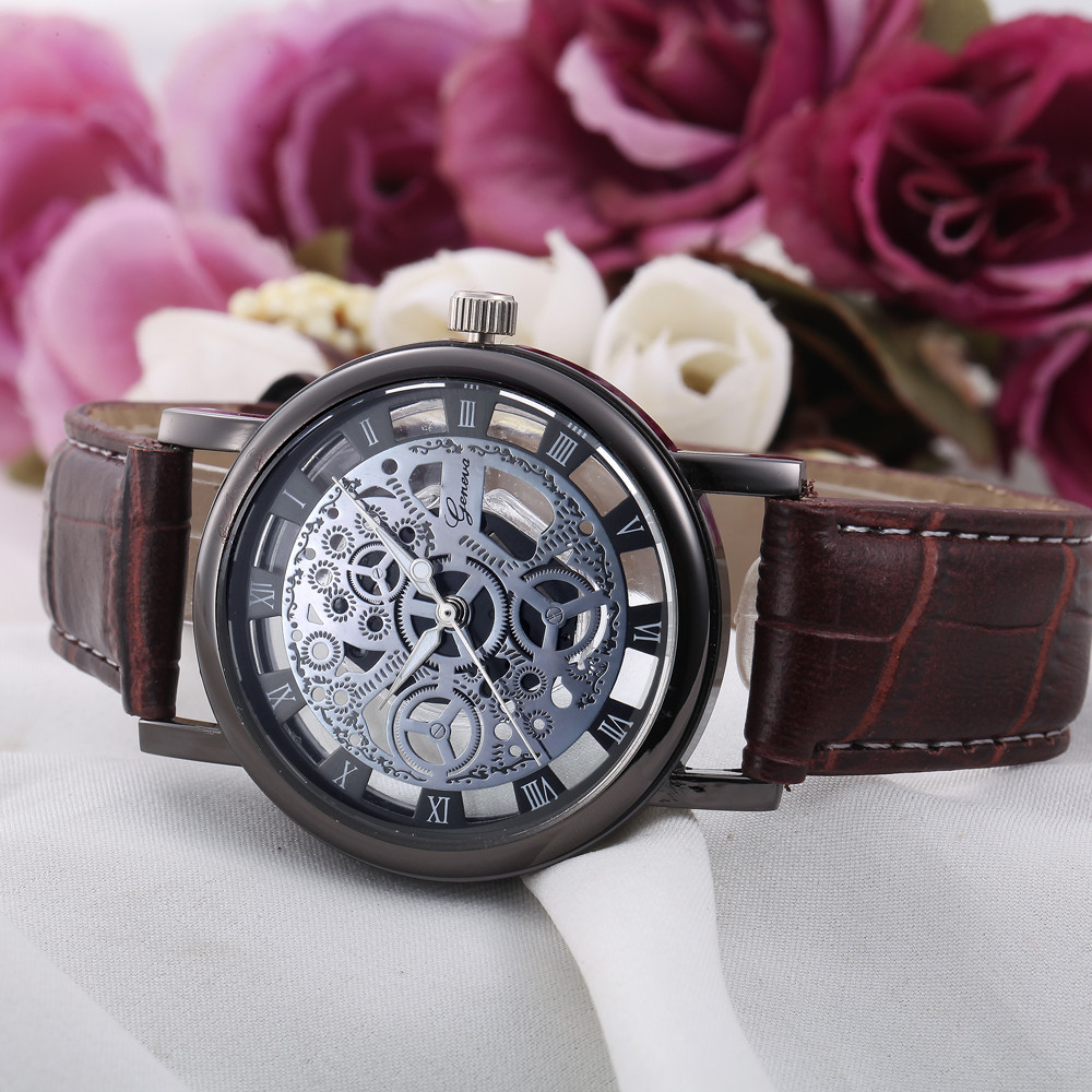 Fashion Women Watch Luxury Unique Stylish  Hollow Lady Quartz Watches Elegant Casual Wristwatch Gift Girls Clock  #D