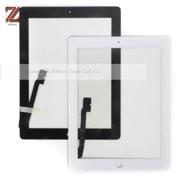 100% Tested Original Touch Screen Digitizer With Home Button Assembly+sticker For IPad 3 Digitizer White /Black 30pcs Free DHL