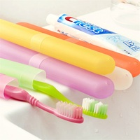 Travel portable antibacterial toothbrush box set breathable storage chopsticks cover