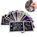 10 шт., разноцветная бумага для рисования, 13x9,8 см