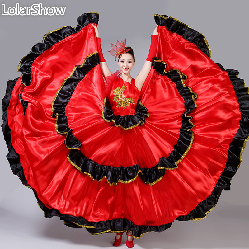 Spanish Dresses Flamenco Girl Costume Bellydance Flamenco Dress