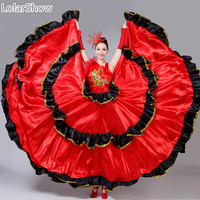 Spanish Dresses Flamenco Girl Costume Bellydance Flamenco Dress