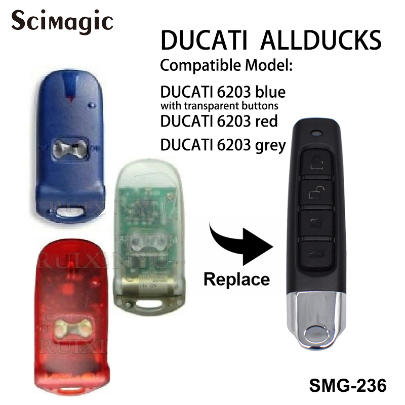 DUCATI ALLDUCKS HC6203 garage door opener universal 433.92mhz remote control duplicator fixed code command remote transmitterDUCATI ALLDUCKS HC6203 garage door opener universal 433.92mhz remote control duplicator fixed code command remote transmitter