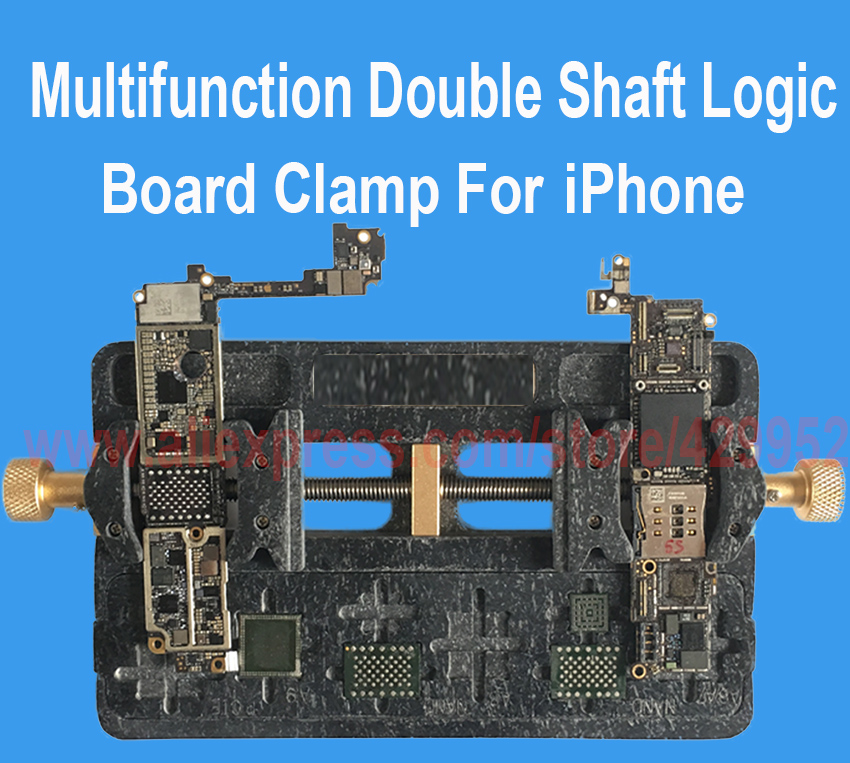 Logic Board Clamps High Temperature Main Motherboard PCB NAND IC Chip Fixture Holder Clamp for iPhone BGA Fix Repair Mold Tool 1pcs lot for iphone 5s power supply chip ic 338s1216 a2 u7 for motherboard main board repair 338s1216