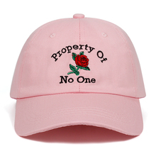 Property Of No One Rose flower Caps Summer Flower Baseball Cap Embroidery Dad Hat Drop Ship 100 Cotton Snapback Women Men Hats cheap Baseball Caps Adult Unisex One Size Casual Floral Adjustable PACUDDY