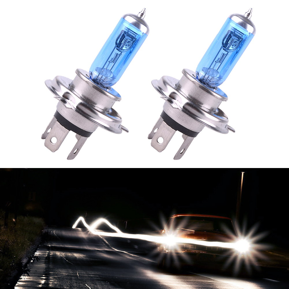 New 2Pcs Lot 12V 100W LED H4 6000K Xenon Gas Super Bright White Car Headlight Halogen