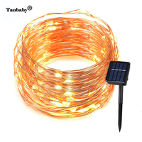 Tanbaby Copper Wire Fairy Solar String Lights 10M 20M Rope Lighting for Home Lawn Garden Wedding Party holiday Decorations