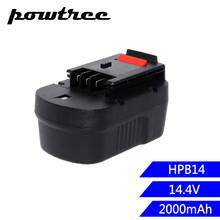 1X 2000mAh 14.4V Ni-CD HPB14 Replacement Power Tool Battery For BlackNDecker 499936-34 499936-35 A144 A144EX A14 A14F