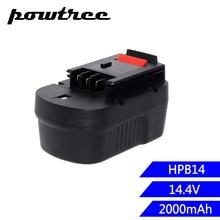 1X 2000mAh 14.4V Ni-CD HPB14 Replacement Power Tool Battery For BlackNDecker 499936-34 499936-35 A144 A144EX A14 A14F