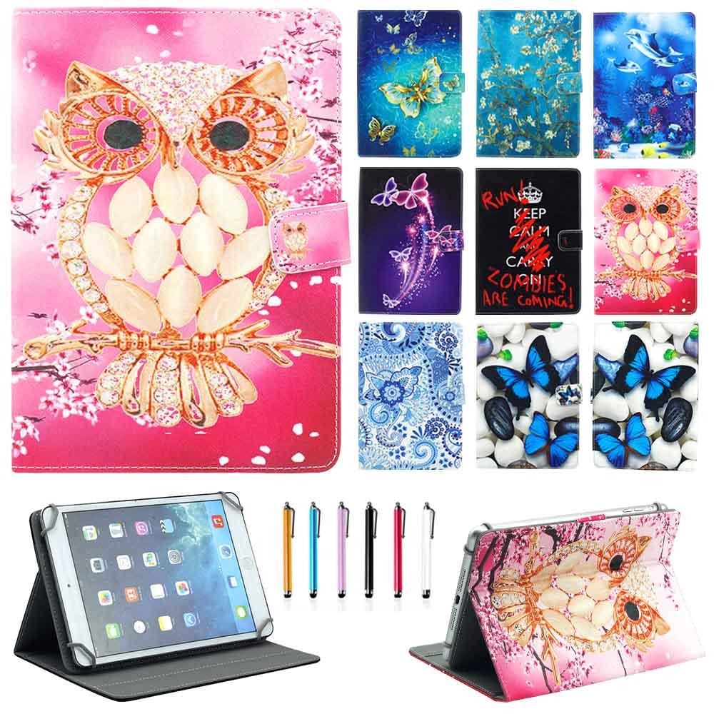 все цены на HOT Cute Printing 7'' 7.9'' 8'' Universal Stand Folios Case Cover For iPad mini 1 2 3 4 For Samsung Tab For Lenovo For LG онлайн