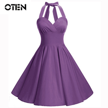 ed5832bf5dc9e Buy audrey hepburn vintage halter dress and get free shipping on ...
