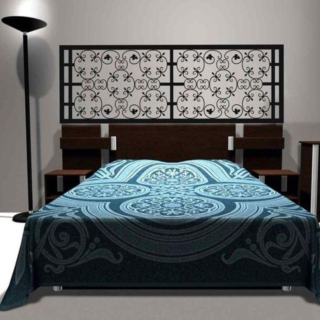 New Baroque Pattern Style Beautiful Flower Headboard Decal Bedroom