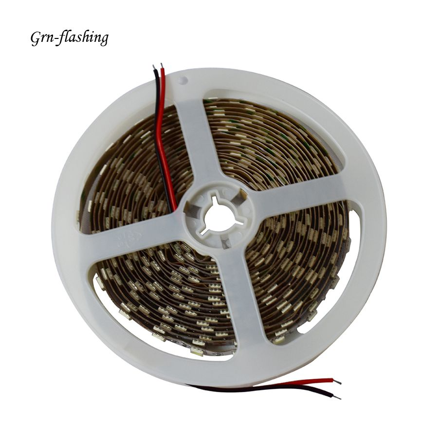 GRN-FLASHING Ice Blue LED Strip light 5M 60Led/m 5050 DC 12V No waterproof Led Flexible Ribbon Tape for festival and holiday