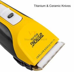 Image 5 - Maquinilla eléctrica para cortar el pelo para hombres y adultos máquina de afeitar profesional de 25w, recargable, con pantalla LED de 220V/110V