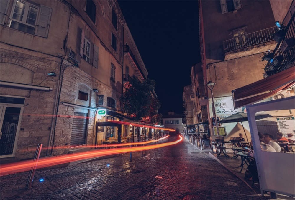 Laeacco Town Traffic Light Way Night Scenic Photographic Backgrounds Customized Photography Backdrops For Photo Studio