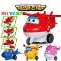 China Super Slide tire hacia atrás Del Avión Robot Figuras de Acción Súper Alas Alas de Transformación juguetes para niños Brinquedos regalo