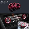 3 шт. Сплав Кондиционер AC регулируемое кольцо с пуговицами отделка Подходит для Mazda3 Mazda6 CX-5/CX-9/CX-8/CX5/CX9/CX8