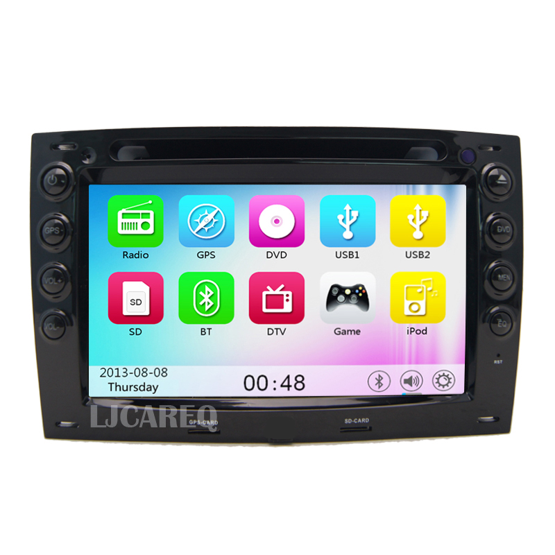 7″ Touchscreen Car DVD GPS For Renault Megane 2003 2004 2005 2006 2007 2008 Car radio stereo with Bluetooth wifi free map