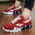 Primavera Outono Dos Homens das Sapatilhas 2016 Dos Homens Running Shoes Trending Estilo Calçados Esportivos Formadores Respirável Sneakers Para O Sexo Masculino