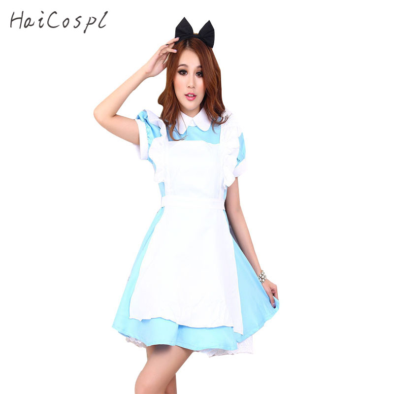 Մեծահասակ երեխան Kid Plus Size XXL Alice in Wonderland Costume Lolita Dress Maid Cosplay Fantasia Carnival Halloween Costume For Women Girl