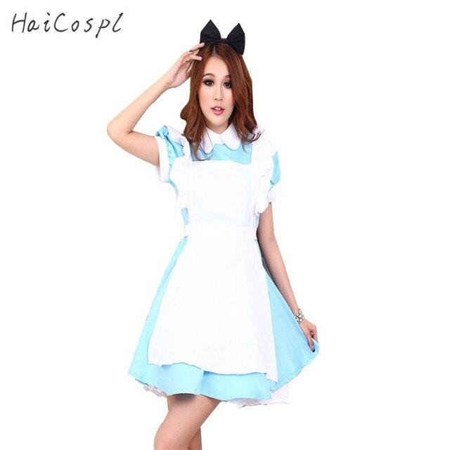 US $15.65 15% OFF|Adult Kid Plus Size XXL Alice In Wonderland Costume  Lolita Dress Maid Cosplay Fantasia Carnival Halloween Costume For Women  Girl on ...