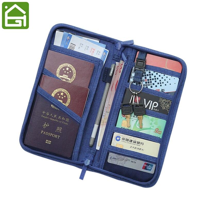 rfid blocking passport documents storage bag travel credit card id card cover cash organizer. Black Bedroom Furniture Sets. Home Design Ideas