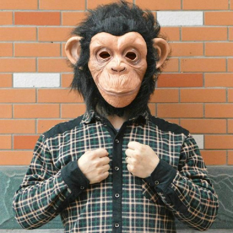 Free Shipping King Kong Gorilla Big Ears Monkey Mask Funny Animal Halloween Masquerade Party Eco Friendly Latex Full Face Mask Buy One Get One Free Novelty & Special Use Kids Costumes & Accessories