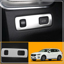 Car head light font b lamp b font switch button cover trim sticker stainless steel For