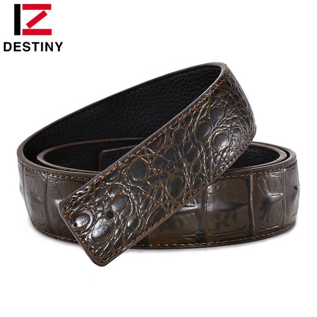 Cinturón de diseñador de destino para hombre sin hebilla de alta calidad correa de cuero genuino cinturón de lujo sin hebilla ancho 3,8 cm Ceinture Homme