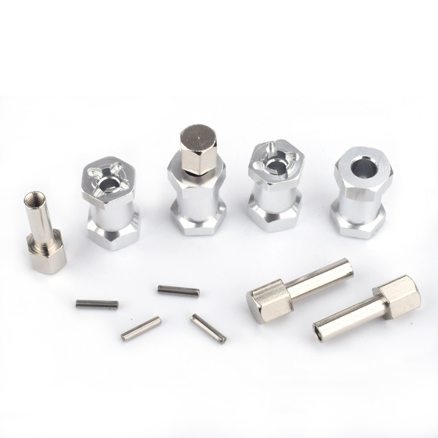 4PCS 1/10 RC Rock Crawler Upgrade length Aluminum 20MM Alloy Hub HEX 12MM SCX10 RC4WD D90