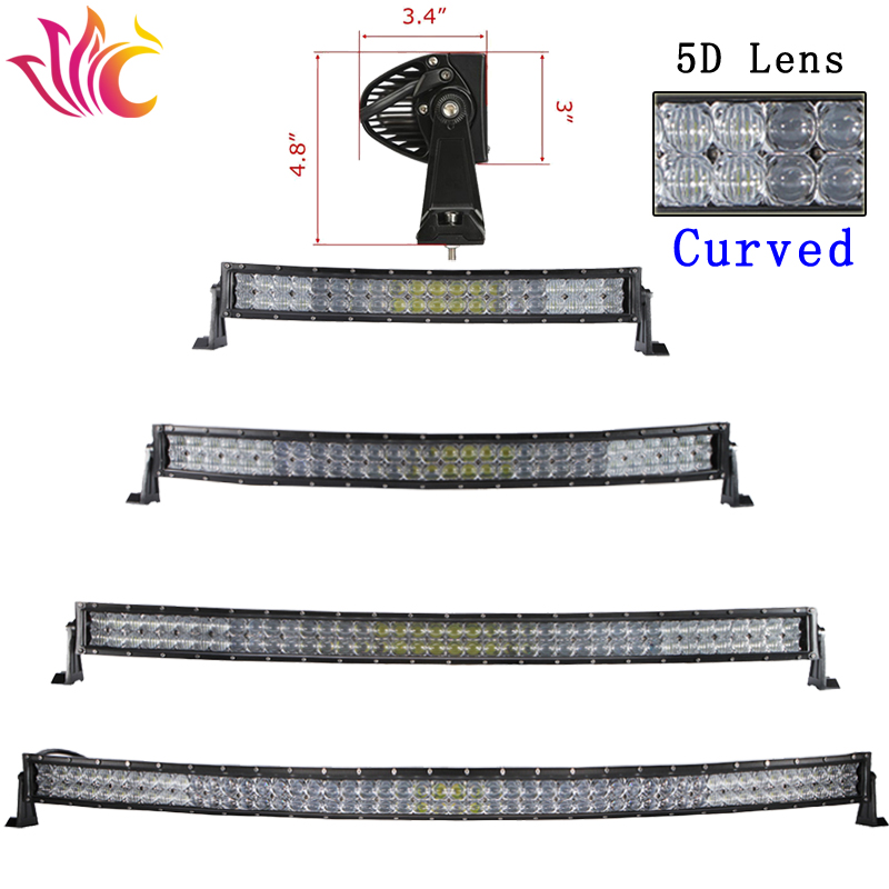 5D 120W 200W 300W 500W Led Light Bar offroad Curved 4x4 uaz Led Work Light for Combo Beams Car Truck Tractor Barra Driving Lamp 43inch led light bar 200w single row led work light combo offroad 4x4 led bar light car fog driving lamp for ford f150 f250 f350