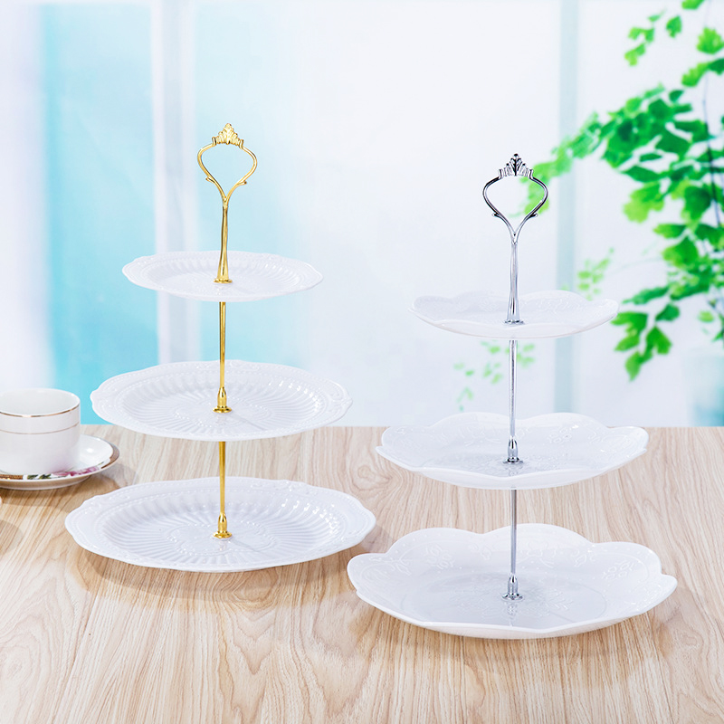 Распродажа, стойка для торта, десерта, 2/3 слоев, полка для кухни, золотые, серебряные комплектующие, удобный Европейский лоток для фруктов, стеллаж для хранения