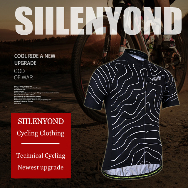SIILENYOND 100% Polyester Quick-Dry Cycling Jersey Set Bicycle Clothes Wear Mountain Bike Clothing Ropa Ciclismo Cycling Set