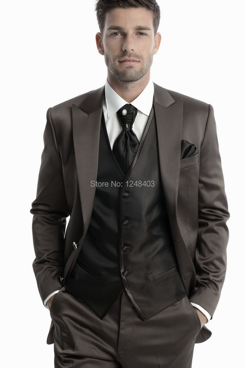 2014 New style Groom Tuxedos Best Man Bridegroom Men Wedding party Suits design (Jacket+Pants+Tie+Vest) - Dream blue wedding dresses store