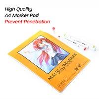 High Quality Prevent Penetration A4 Marker Pad Marker Book Designer Coloring Design For Sketch Manga Draw