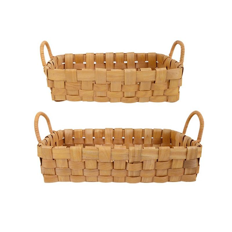 Lovely Weben Ablagekorb Rattan Handarbeit Obst Essen Veranstalter Brot Körbe Handarbeit Brotkästen