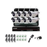 Безопасности Камера Системы 8 шт. 2.0mp IP сети видеонаблюдения Камера Беспроводной NVR комплект Камера комплект с японским Мощность разъем