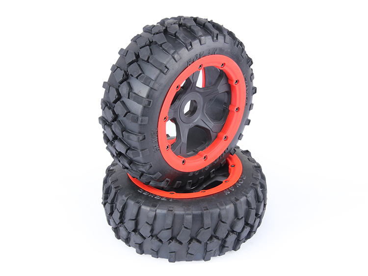 gravel tire wheels front set for baja 5b baja 5b off road front wheels set only 2pc front