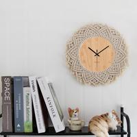 Modern decor Macrame Tapestry Design Silent Office Wall Decor   Clocks   for home decor Christmas gift