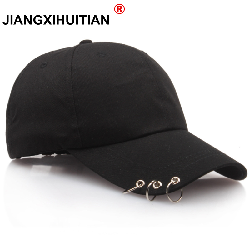 2018 Hot Women   Cap   Fashion Gd BTS   Baseball     Cap   with Rings Snapback   Cap   Men Women GD Hip Hop Hat Dance Show Hats   Cap   Men