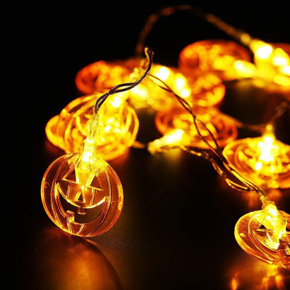 Halloween pumpkin string lights lighting equipment warm white Halloween night light family room